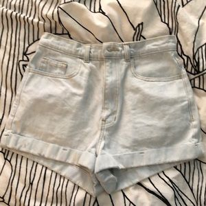 American apparel washed out high waisted shorts